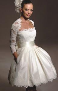 Выбор короткого свадебного платья