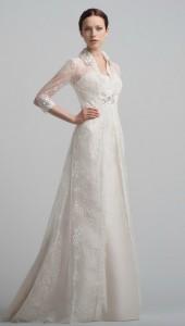Закрытое свадебное платье - нежность и элегантность